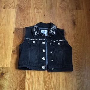Justice girls denim vest